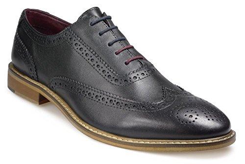 POD Herren Paul ODonnel Hellbraun Brogues Schuhe in Größe UK6 zu UK15 Navy