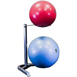 Body Solid Stability Ball Rack, Grey/Black
