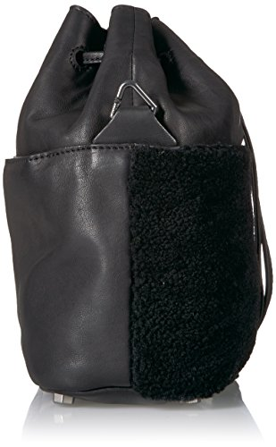 Shearling Bucket and Oil Liebeskind Lambskin Berlin Missisippi Women's Black Bag HF1twF6qUx