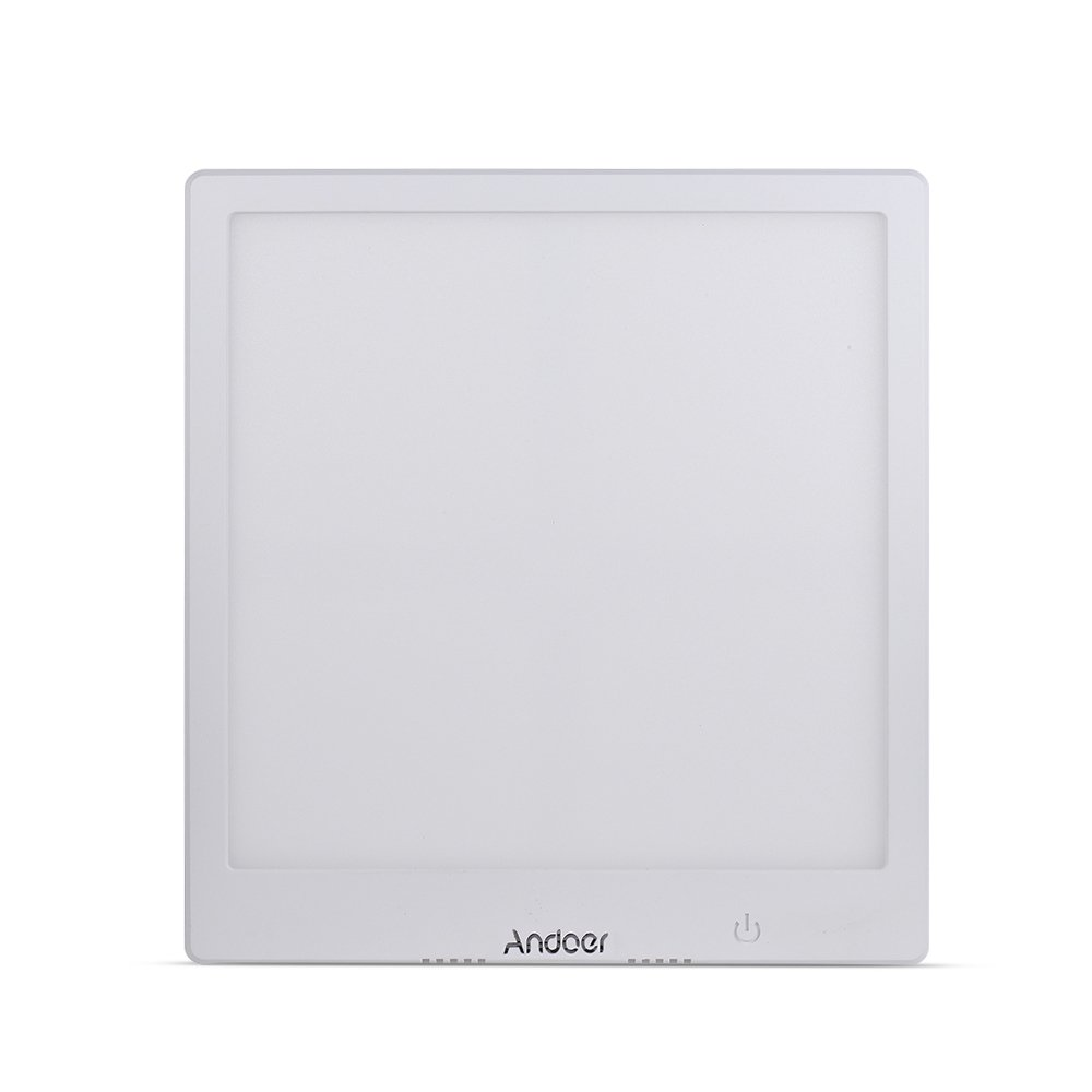 Andoer LED Photography Shadow-free Shadowless Light Lamp Panel Pad Softbox Bottom Light 19 19cm Effective Area Brightness Adjustable