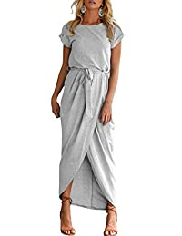 Herose Ladies Cotton Blended Plain Cap Cuffed Sleeve Pullover Long Maxi Dress