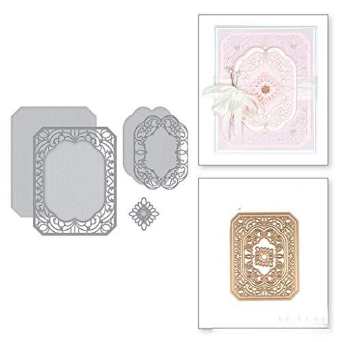 Uqiangy Cutting Dies Scrapbooking Metal Die Stencil Paper Card Craft for Sizzix Big Shot/Other Machines(A,115x144mm)
