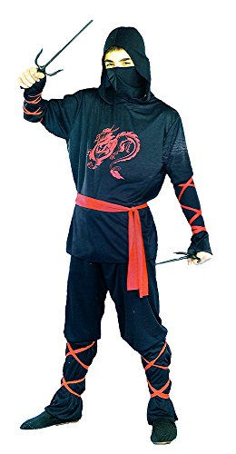 Ninja Costume for Boys Halloween Cosplay Size 7-9 Assassin Red Dragon (7-9) (Assassin Halloween Costumes)
