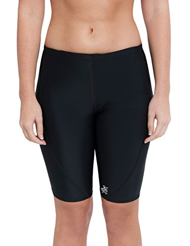 Tuga Women's UPF 50+ Swim Short (Jammer), Black/Black, Size 38
