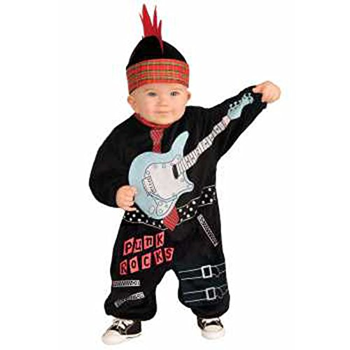 Forum Novelties Baby Boy's Lil Rock Star Punk Baby Boy Costume, Multi, Infant