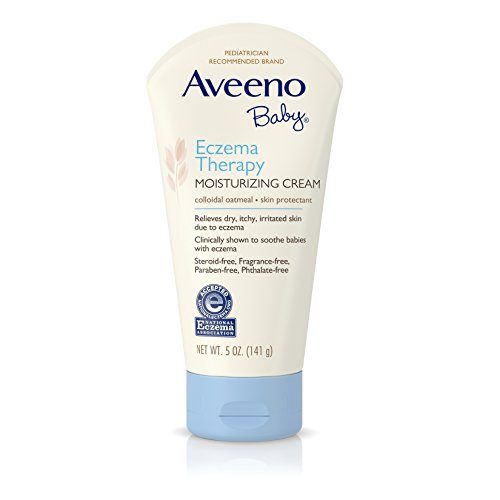Aveeno Baby Eczema Therapy Moisturizing Cream with Natural Colloidal Oatmeal for Eczema Relief, 5 oz (Aveeno Baby Eczema Therapy Moisturizing Cream 5 Ounce)