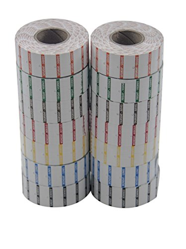 Amram 7 Day Date Coding Label Kit, 14,000 21x12mm Day of Week Labels. 2 Rolls Per Day, 1,000 Labels Per Roll.