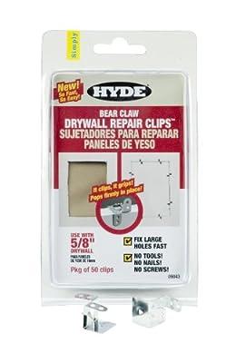 Hyde Tools 9043 5/8-Inch Bear Claw Drywall Repair Clip, 50-Pack