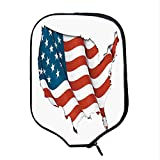 YOLIYANA Wanderlust Decor Durable Racket Cover,Graphic United States Flag American Federations Star Symbol Print for Sandbeach,One Size