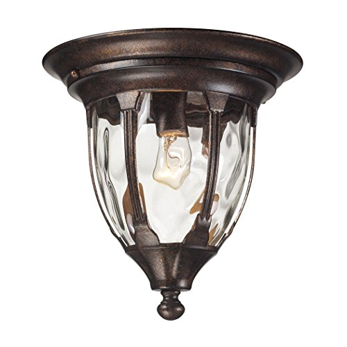 Glendale 1 Light Outdoor Flush Mount In Regal Bronze - Regal 1 Light Pendant