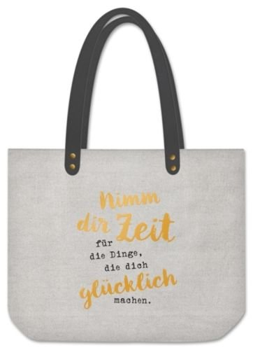 Grafik Werkstatt Shopper Nimm dir Zeit Sporttasche, 48 cm, Grau 62001