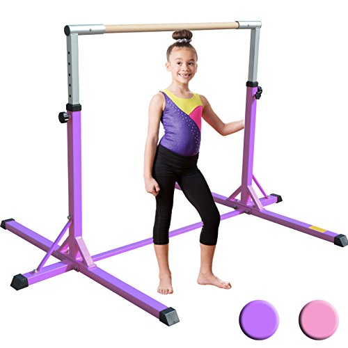 XTEK Gym Pro Gymnastics Bar - Adjustable Height Kip Bar with Added Stability, Premium Gymnastics Equipment for Home Training