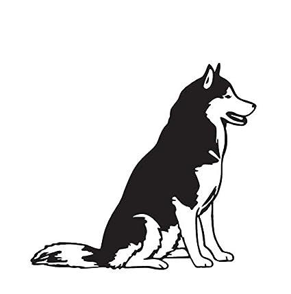 Amazon Com Siberian Husky Black Decal Dog Car Truck Window Sticker