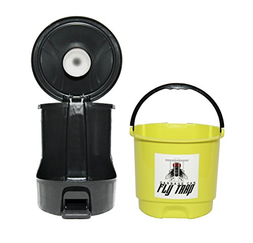 Pet Waste Receptacle by Garbage Can Fly Trap (Yellow).