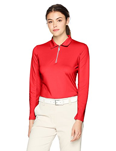 Bette & Court Women's Swing Polo, Crimson, Large