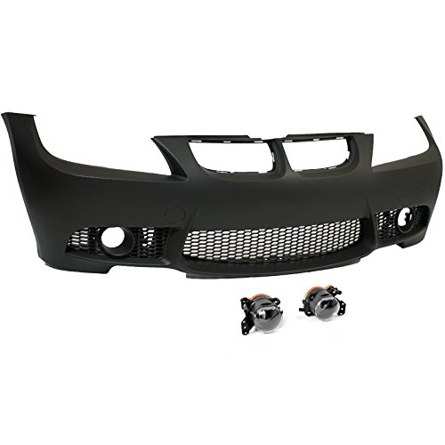 M3 Style Front Bumper Cover + Clear Fog Lights