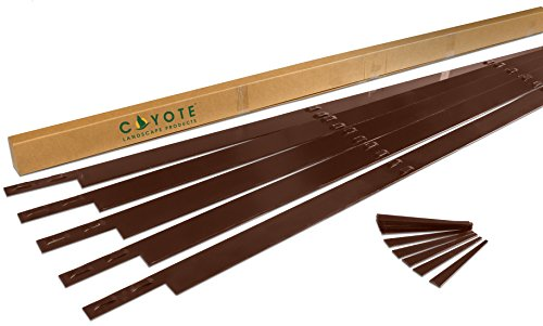 Coyote Landscape Products 5 Piece Steel Home Kit Edging with 15 Colored Stakes, 4