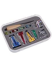 Bias Tape Maker Set, Yangli Single/Double Fold Fabric Bias Tape Maker Tool Kit with 6MM/12MM/18MM/25MM 4 Sizes DIY Patchwork Sewing Accessories
