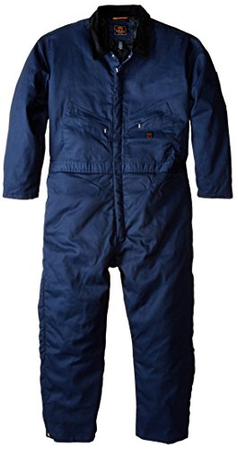 Walls Men's Big Twill Insulated Coverall, Navy, - Coverall Polyester Twill Cotton
