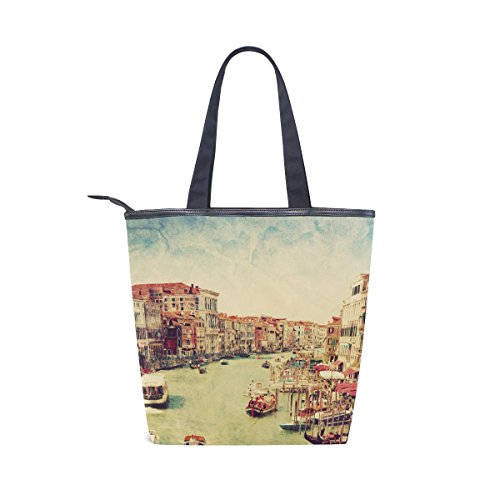 Venice Tote Shoulder Italy Canvas Handbag MyDaily Womens Vintage Bag OIxwxd