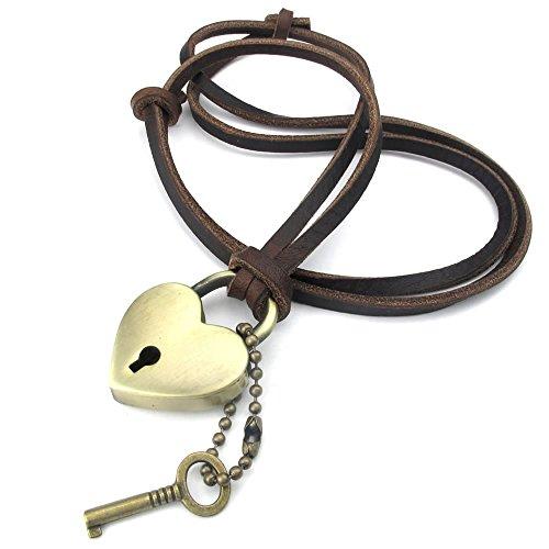 KONOV Adjustable Pendant Leather Necklace