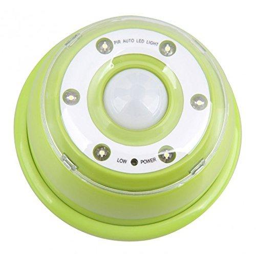 Detector de movimiento por infrarrojos - TOOGOO(R) Auto PIR 6 -LED Luz