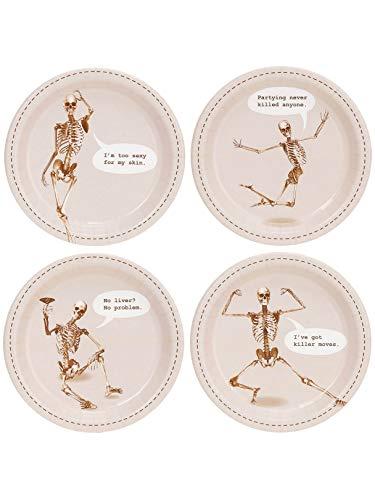 (Birthday Express Kits Skeleton Assorted Appetizer Plates)