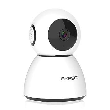Amazon.com: AKASO Cámara de seguridad WiFi 1080P FHD Smart ...
