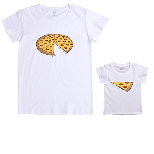 Younger Tree Pizza Slice Shirt-Funny Daddy and Kid Matching T Shirt Family Clothes Matching Outfits Shirts (Adult Only, M) (T-shirt Funny Adults Shirt)