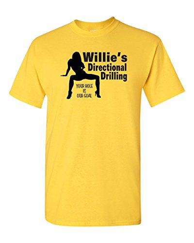 Jacted Up Tees Willie's Directional Drilling Men's T-Shirt - 5XL Daisy (1096)