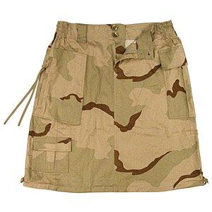 Women's Tri-color Camo Knee Length (Camouflage Knee Length Skirt)