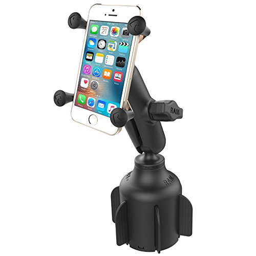(RAM Mount Stubby Drink Cup Base with X-Grip - Black)