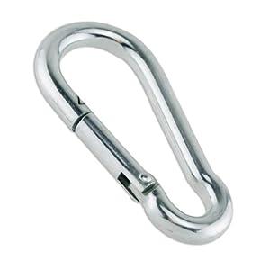 """1/4"""" Zinc Plated Steel Carabiner Snap Hook (2, 5, 10, 20, 35, 100 Packs)"""