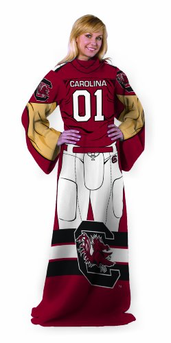 (Officially Licensed NCAA South Carolina Gamecocks Full Body Player Adult Comfy Throw Blanket, 48
