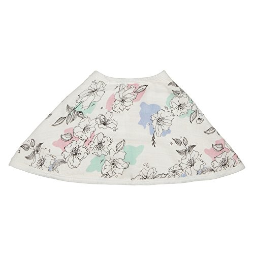 "aden + anais Silky Soft Burpy Bib, 100% Viscose bamboo Muslin, Soft Absorbent 4 Layers, Multi-Use Burp Cloth and Bib, 22.5"" X 11"", Single, Meadowlark"