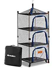 Wealers Outdoor Dry Net Storage and Food Screen 3-Tier Camping, Barbecue, Picnic Meal Protection Organizer | Repel Bugs and Insects | Faster Herb, Clothes, Dish Drying | Foldable