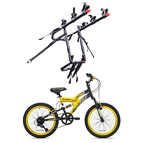 (Kent Bikes Avigo Air Flex Steel 20 Inch Boys BMX Bike & 3 Bike Car Trunk Rack)