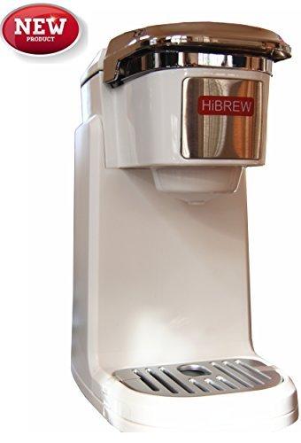 HiBREW - Cafetera compacta de una sola serie para viajes, camping, etc, Blanco