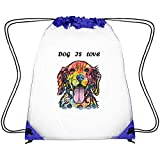 Best Asa Gifts For Lovers - Zhdashaiff Drawstring Clear Bags Dog is Love Printing Review