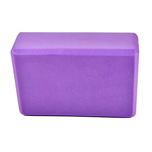 Johnnyhh Yoga Foam Exercise Blocks-4 Color, Slip Resistant, 3x6x5 Inch,Purple