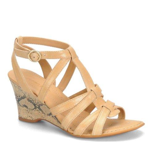 Coronada Crown Yulia T-strap Sandals Crema