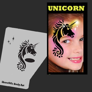 Face Painting Stencil - StencilEyes Profile Unicorn