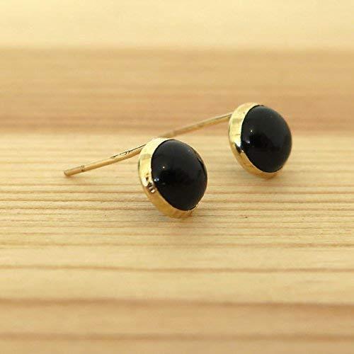 220180722 14K Gold Onyx Studs Earrings - 14K Solid Yellow Gold Studs, 6mm Round  Natural Stone, Genuine Black Onyx Gemstone, Simple Minimalist Dainty  Handmade Everyday ...