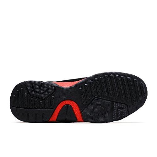 Fereshte Mens Alla Moda Casual Traspirante Scarpe Da Ginnastica Sportive Per Viaggiare In Corsa Nero Rosso