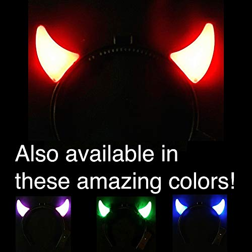 Light Up Devil Horns - Great for AC/DC Fans and Halloween! B U Y 1, G E T 1 F R E E ! ! !