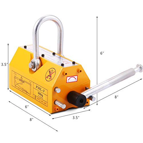 Mophorn Steel Magnetic Lifter 300kg Metal Lifting Magnet