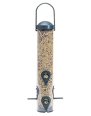 Perky-Pet Comedero para pájaros con 6 Perchas - Dispensador de Comida para Aves -