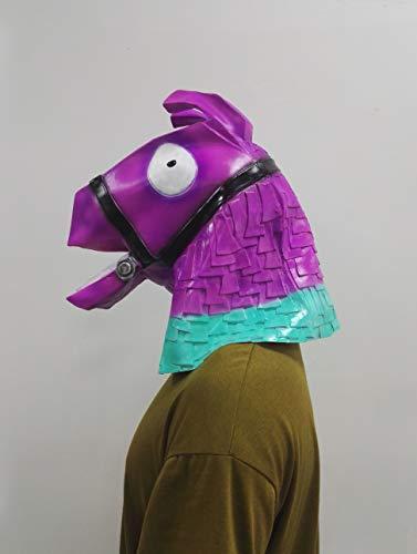 Premium Llama Pinata Head Mask - Cosplay Halloween Costume (Adult Party Clothing)