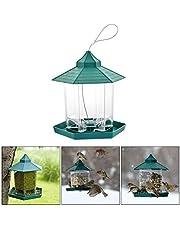 Hihey Mangiatoia per Uccelli sospesa Esterno Contenitore Grande per Finestra Mangiatoia per Uccelli Selvatici Impermeabile Perfetto per la Decorazione del Giardino