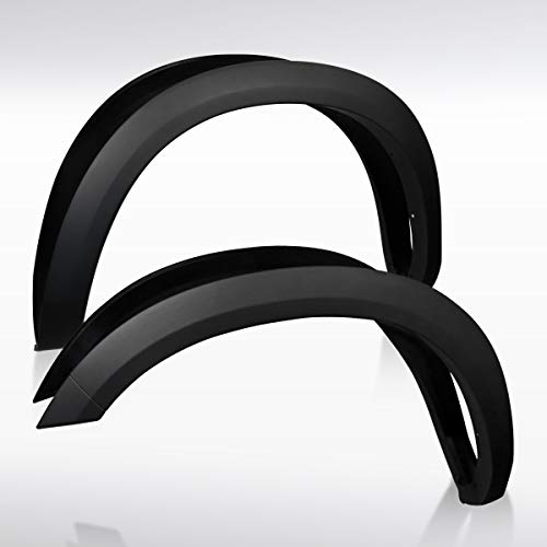 Autozensation For Dodge Ram 2500 3500 Black Factory OE Style Fender Flares Cover Protector Smooth
